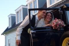 Bruidskapsel klassiek auto 1